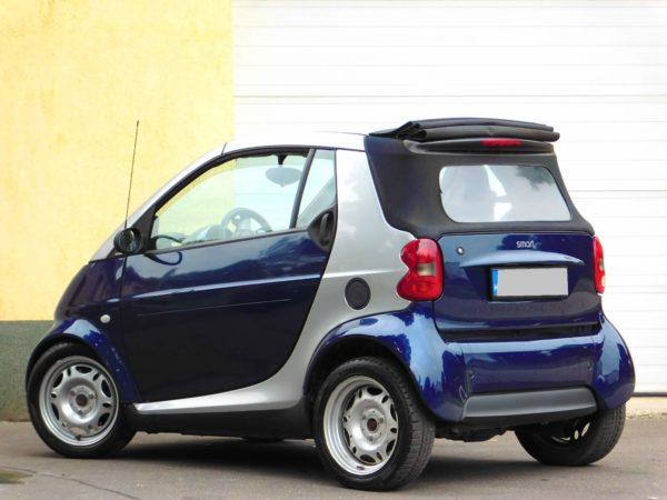 Smart Cabrio bérlés 4000 Ft/nap (havi bérlés esetén) 2